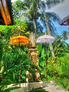 Huistempeltje in een van de boutique hotels op Bali
