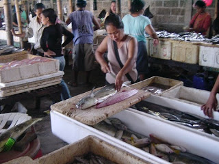 Fish Market Jimbaran. A lot of hotels and villas buy their fish here.
