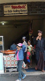 'Babi guling' shop in Gianyar, Bali Indonesie