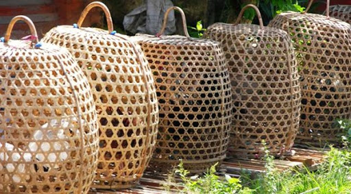 Baskets near Villa Sabandari, one of the newest design villas with spa in Bali