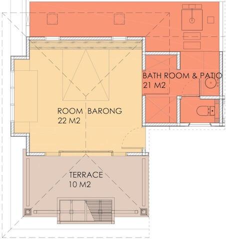Layout of Barong room in Villa Sabandari a small boutique resort in Ubud