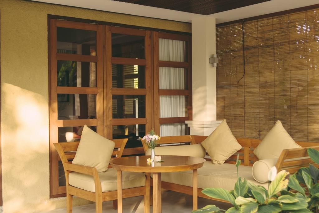 Terrace of the Kecak room at Villa Sabandari a boutique B&B in Ubud