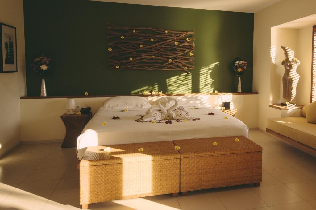 Bedroom in Legong room at Villa Sabandari, a small boutique hotel in Ubud