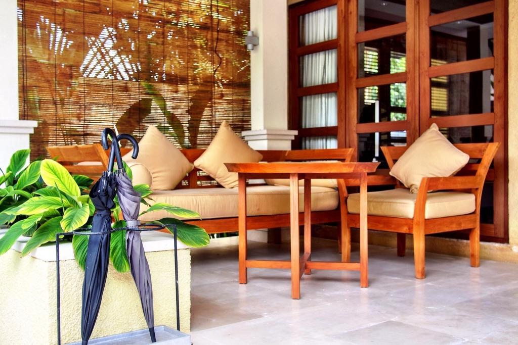 Terrace Telek room at Villa Sabandari boutique resort in Ubud