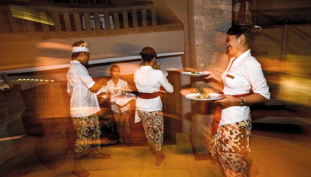 Opdienen in een van de beste restaurants van Ubud